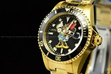 Invicta 34mm Disney Limited Ed. Pro Diver Gold Tone Minnie Mouse Black Watch