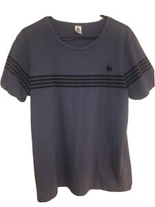 le coq sportif T-Shirt Size Large Blue With Rooster Logo