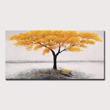 Mintura Handmade Oil Paintings On Canvas A Big Yellow Tree  Home Decor  Wall Art