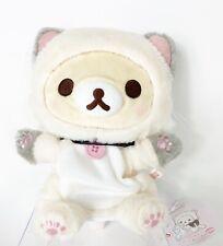 San-X Rilakkuma Korilakkuma & Cute Cats Gray Cat Plush doll Gray hand puppet NWT