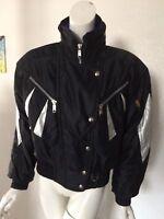 Descente Ski/Winter/Moto Hood Jacket Black Women's Size 8