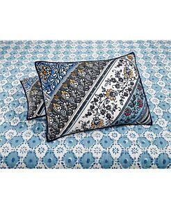 Martha Stewart Collection 100% Cotton Antique Market Quilted Multi Standard Sham