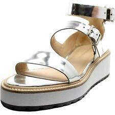 Loeffler Randall Pia Women US 11 Silver Wedge Sandal NWOB  1379