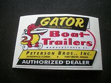 (1) GATOR BOAT TRAILERS VINYL DECAL