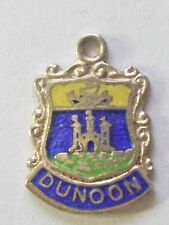 Dunoon  Scotland     vintage silver and enamel  travel charm