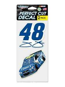 Jimmie Johnson #48 WInCraft Set of 2 Full Color Outdoor Vinyl Perfect Cut Decal