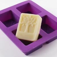 4-grids Rectangle Tree Soap Mold Cake Mold Silicone Mould Chocolate Mold