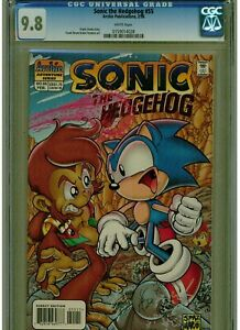 SONIC THE HEDGEHOG #55 CGC 9.8 MINT WHITE PAGES 1998 FRANK STROM STORY ARCHIE