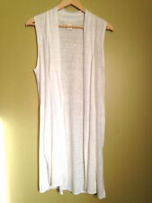 NEW! Cynthia Rowley Designer Knit Summer Linen Sleeveless Long Sweater Vest L