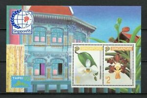 25202) Singapore 1993 MNH New Flowers Orchids S/S Bf