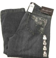NWT Gloria Vanderbilt Women's Hunter Capri Jeans Embroidery Pockets Size 10