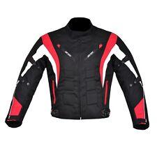 hombre Chaqueta Moto Motocicleta Tela Impermeable con CE PROTECTORA 6 Colours