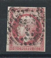 France N°17B Obl (FU) 1859 - Napoléon III second Empire