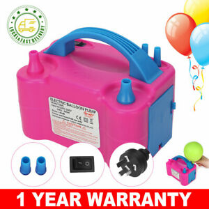 Electric Balloon Pump Ballon Inflator 600W Power 2 Nozzles Portable