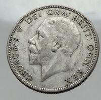 1936 Great Britain UK United Kingdom Big SILVER FLORIN Coin King George V i63001