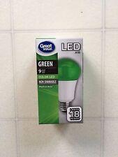 GreenLightAVet GREEN Color LED A19 60 Watt Equivalent 9W Light Bulb