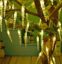 Christmas Lights 40 Icicle Warm White XMAS PARTY FROZEN ICICLE FAIRY STRING LED
