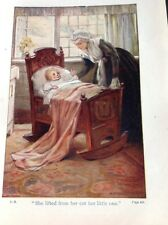 H6-1 Ephemera Book Plate 1900s She Lifted Her From Her Cot Her Little One