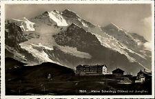 Kleine Scheidegg Kanton Bern Schweiz s/w Postkarte ~1940 mit Jungfrau Berghaus