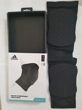 adidas Padded Knee Sleeve Pad Sport Compression Fit - Black size S