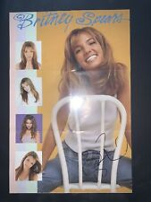 britney spears signed Poster Folding Baby Cd Booklet Rare Autograph