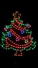 Garland Christmas Tree Outdoor Holiday LED Lighted Decoration Steel Wireframe