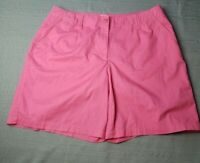 Talbots Woman 16W Stretch Pink Color Bermuda Shorts
