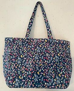 NEW NWT VERA BRADLEY SCATTERED WILDFLOWERS GET GOING TOTE 24448-R48 TRAVEL BAG