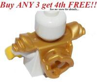 ☀️NEW Lego Ninjago GOLD SCABBARD ARMOR Minifig Shoulder Katana Sword Weapon