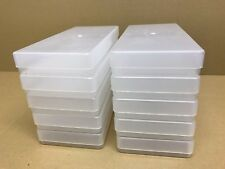 Peel Off Box Clear Plastic x10 Storage Craft Container