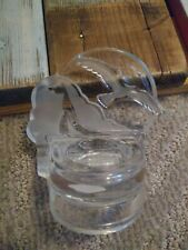Partylite Clear + Frosted Glass Votive Candle Holder Seagull Sailboat