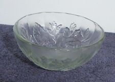 Raised Etched Rose Clear Bowl