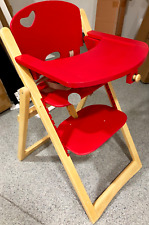 Baby Highchair Feeding Chair wooden Folding  Safety Straps Fully Adjustable