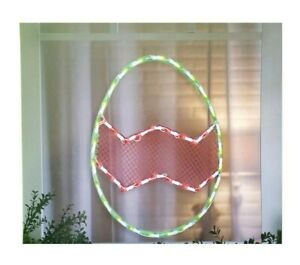 Easter Egg Silhouette Lighted Instant Décor Window Decoration – 1 Piece
