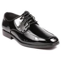 Men's Black Patent Lace Up Dress Tuxedo Classic Oxford Shoes