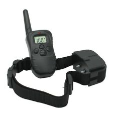 Collar Adiestramiento Perros Descarga Vibracion y Sonido Anti Ladridos Mando LCD