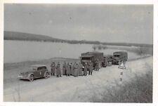 PKW Opel mit Lastkraftwagen VOMAG , MAN Ostfront
