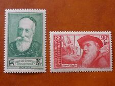 France 1937 Unemployed Intellectuals Fund.pair vf Mint hinged Sg 576 & 577
