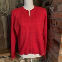 Worth Red Cardigan Sweater Cashmere silk Women's L NWT  Long sleeve