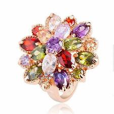 Jewelry Silver Ring Size 6-10 Trendy Girl women Zirconia Gemstone