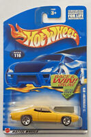 2002 Hotwheels 1971 Plymouth GTX Hemi Yellow! Mint! Very Rare! MOC!