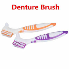 Ergonomic Denture Cleaning False Teeth Brush Multi-Layered Bristles (Various) j7