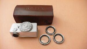 Kodak Entfernungsmesser für 3,5/50 + 3 Vorsatzlinsen + Etui frühe Ausführung