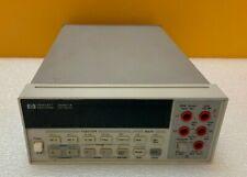 Hp Agilent 34401a For Parts Repair 65 Digit Digital Multimeter Tested