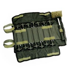 Lucx® Zelt Heringe Set + Gummi Hammer Erdnägel Set 14 Tlg. + Tasche + Hammer