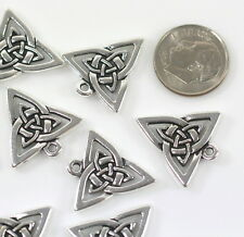 TierraCast Celtic Open Trian 00006000 gle Charms, Antiqued Silver Plated, 4 Pcs, 0612