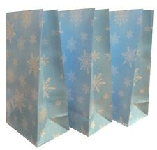 20 ~ Frozen Snowflake Pick n Mix Bags ~ Blue Party Paper Loot Candy Sweet Bag