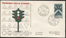 1957 - Educazione Stradale - Sassone n.815 -  Busta F.D.C. ALA