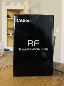Canon RF 35mm F1.8 Macro IS Camera Lens - Open Box LN Condition - In Warranty