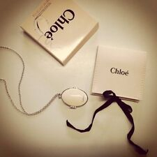 Chloe Bianca Necklace and Solid Perfume Fragrance Locket 0.07oz 2g New in Box
